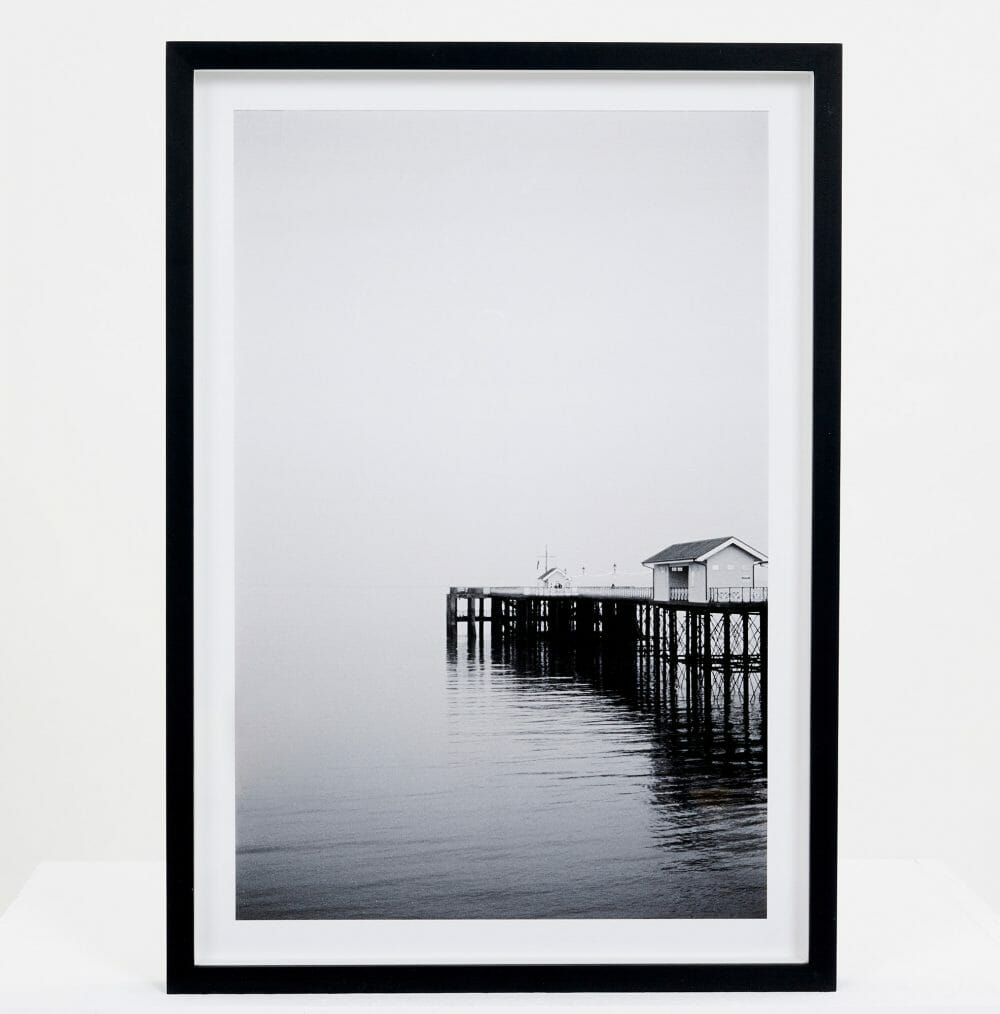 From Here | Giclée photo print black and white Penarth pier