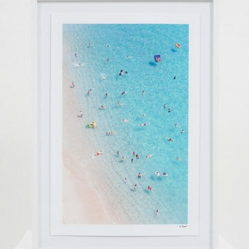 pedn-vounder-people-from-above-giclée-photo-print-colour-people-on-a-beach