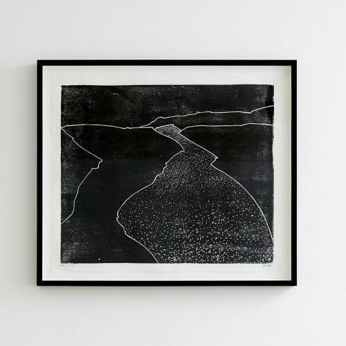 Flow-woodcut-print-monochrome-limited-edition