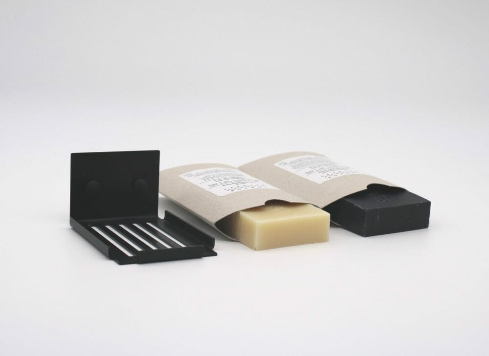 slatted-soap-dish-matte-black-with-soap-bars-london-bathers