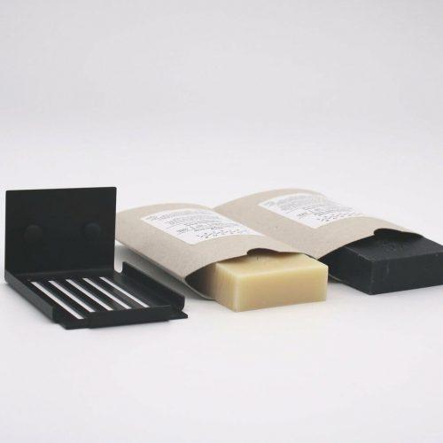slatted-soap-dish-matte-black-with-soap-bars-london-bathers