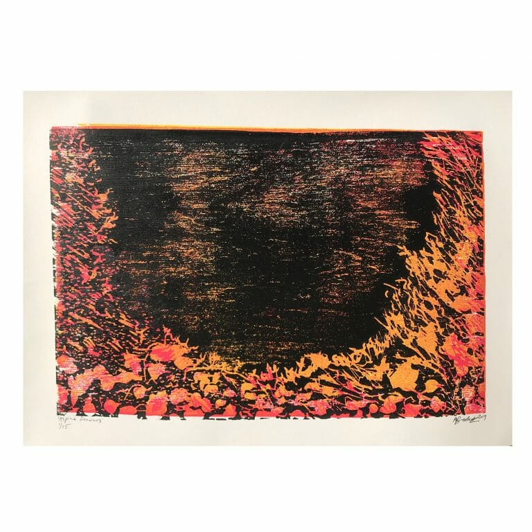 alpine-flowers-I-I-woodcut-print-contemporary-art-three-colour