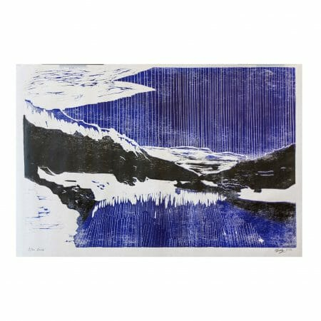 zuoz-|-woodcut-print-art-contemporary-blue-black-white