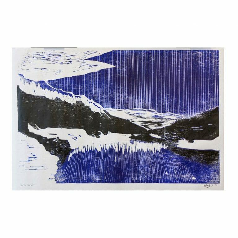 zuoz-|-woodcut-print-art-contemporary-blue-black-white