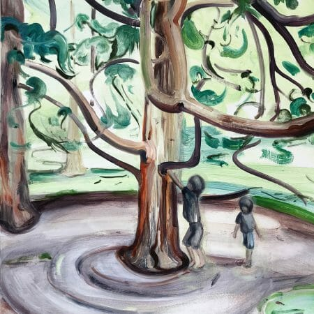 tree-climbers-oil-painting-canvas-art-british-artist