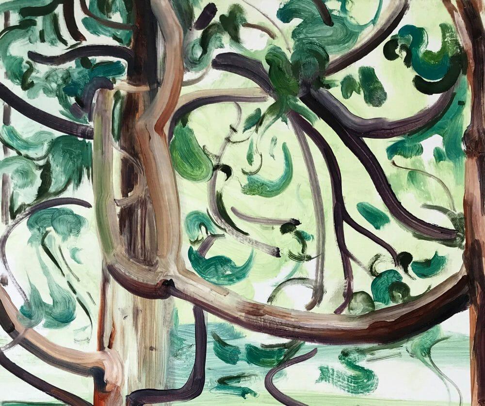 tree-climbers-painting-oil-canvas-art-british-artist