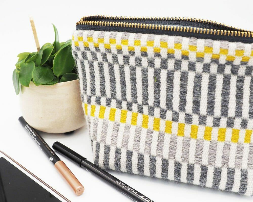 grey-and-yellow-stripe-box-bottom-bag-british-textile-design-weaving
