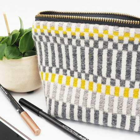 grey-and-yellow-stripe-box-bottom-bag-british-textile-design-weaving