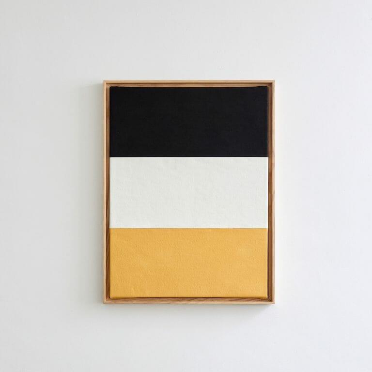 stripes-II-painting-oil-black-white-naples-yellow