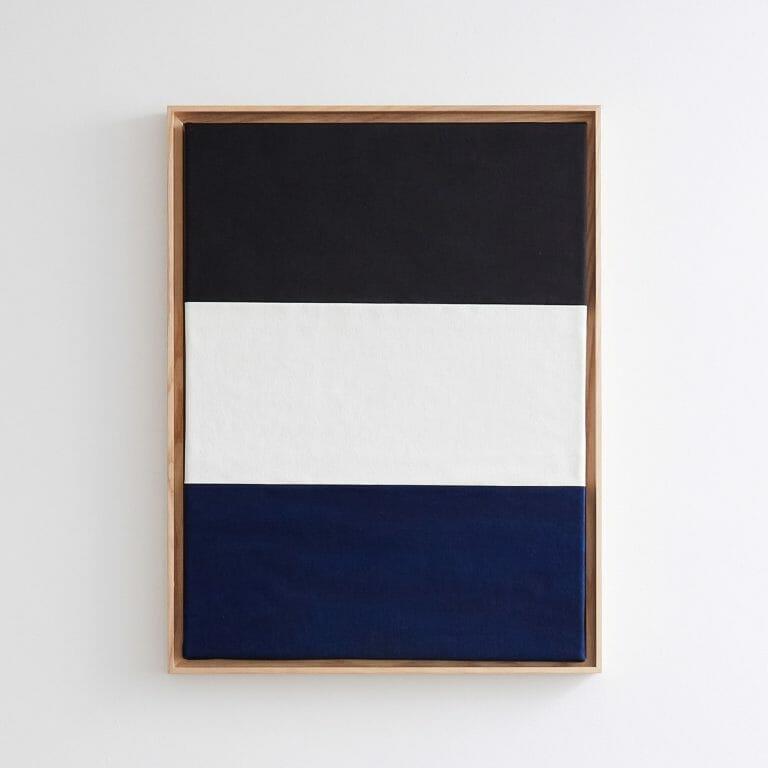 Stripes-Painting-black-white-blue