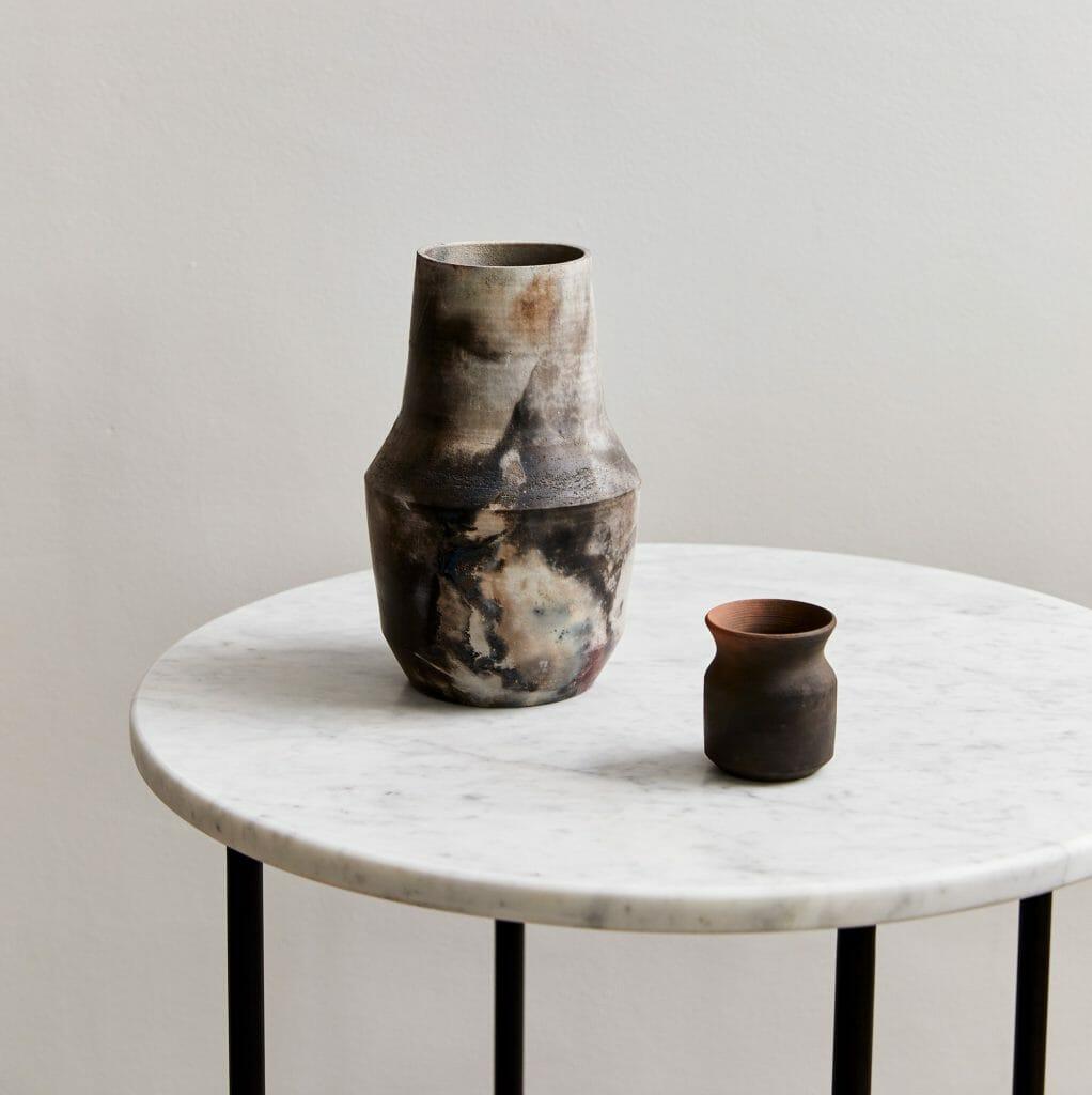 Pit Fired Vase 04   Ceramic-smokey- terracotta-vase