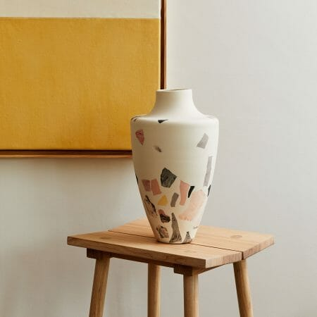 canvas-and-terrazzo-vase-lifestyle-ceramics-painting-interiors-art