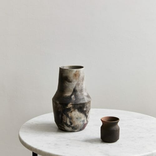 pit fired vase 05 ceramic-carrara-side-table-marble