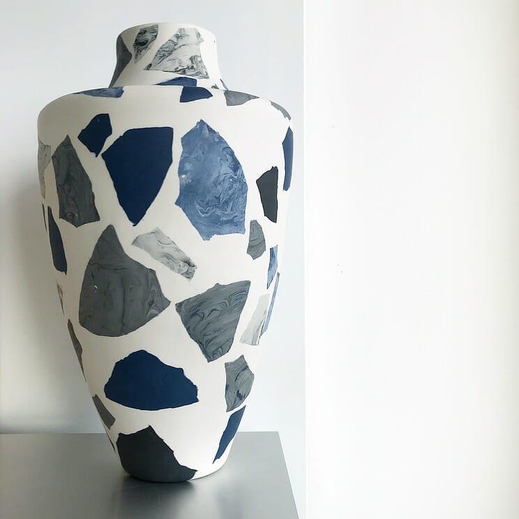 Terrazzo-Vase-IV-porcelain-blue-grey-black
