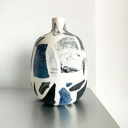 terrazzo-vase-small-I-porcelain-blue-grey-black