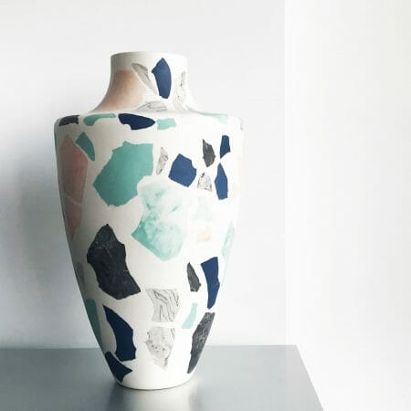 Terrazzo-Vase-III-Porcelain-black-blue-white-grey