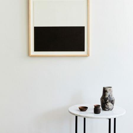 black-white-stripe-print-giclee-framed-art-painting-interiors