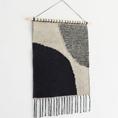 joki-wall-hanging-handwoven-textile-black-beige-grey-abstract