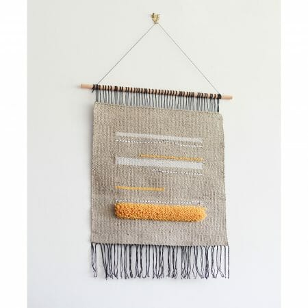 viivat-wall hanging-handwoven-wool-nylon