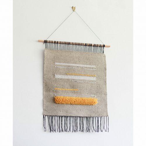 viivat-wall hanging-handwoven-wool-nylon