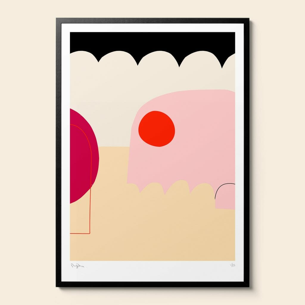 the-mess-abstract-giclee-art-print-contemporary-bright-colours-humorous