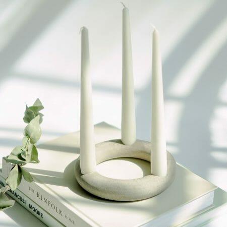 ceramic-torus-ring-candle-holder