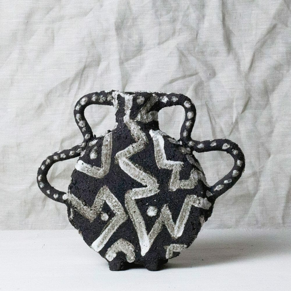 black-vase-small-monochrome-clay