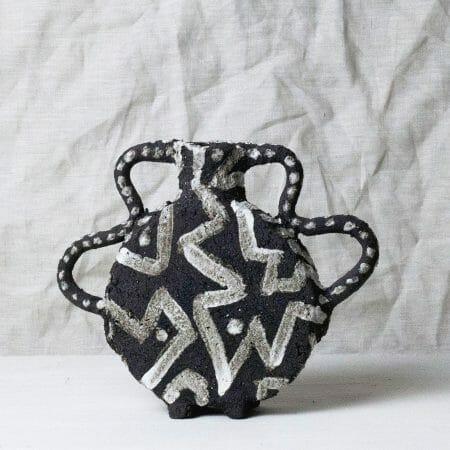 black-vase-small-monochrome-clay
