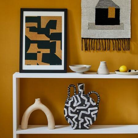 lifestyle-ceramics-art-handmade-objects-weaving-vase-pots-prints-geometric-patterns-artworks