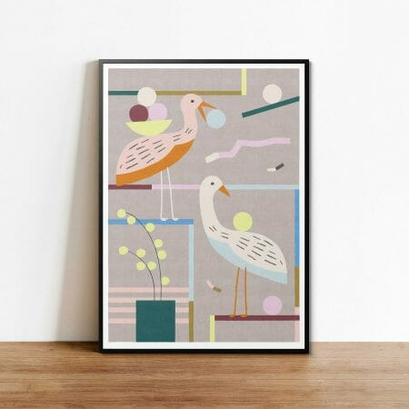 feeding-time-print-giclee-art-contemporary-cheerful-colours
