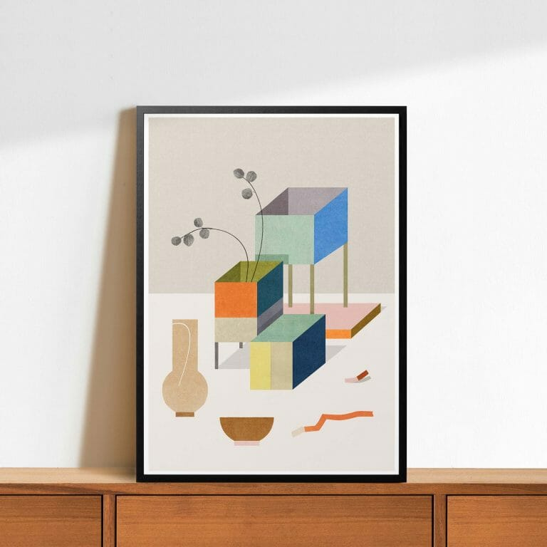 vase-&-bowl-giclee-print-art-contemporary-cheerful-colour