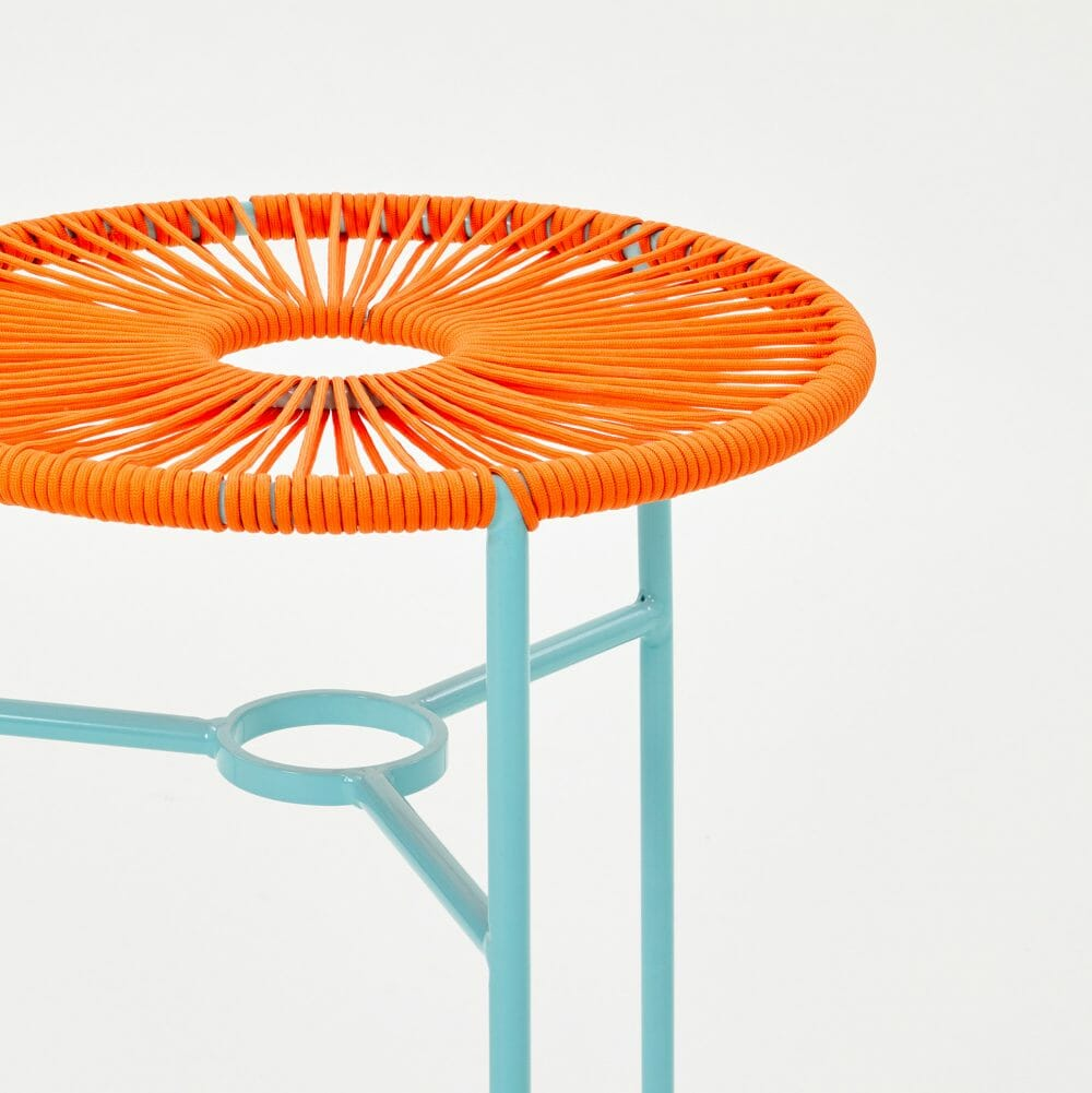 orange-woven-stool
