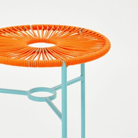 orange-woven-stool