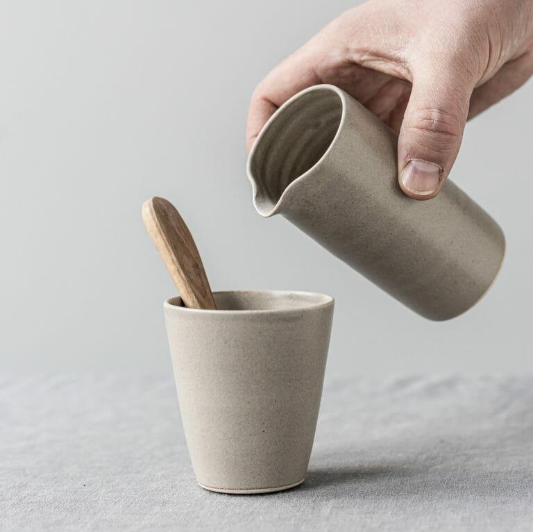 Pourer Warm Grey Ceramic-tableware-pottery