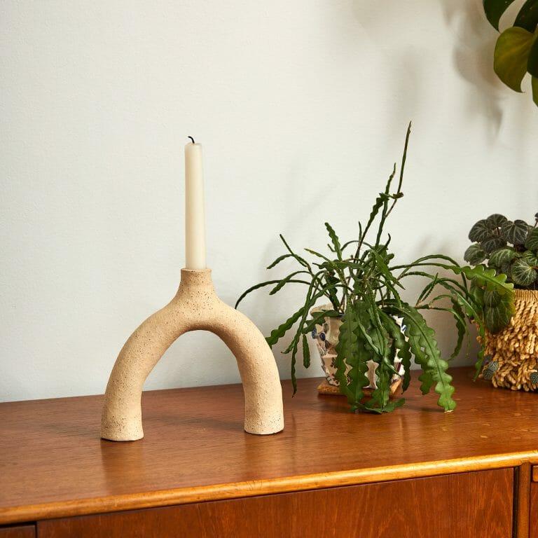biscuit-leggy-ceramic-handmade-pottery-sideboard-candleholder