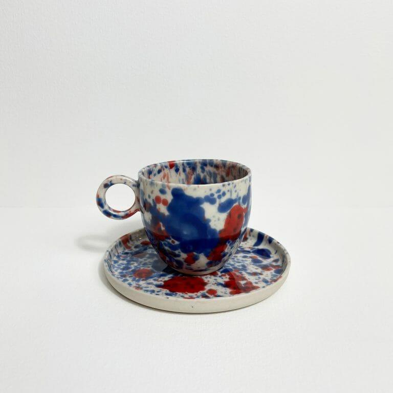 Blue-and-Red-Splatter-Espresso-cup-porcelain