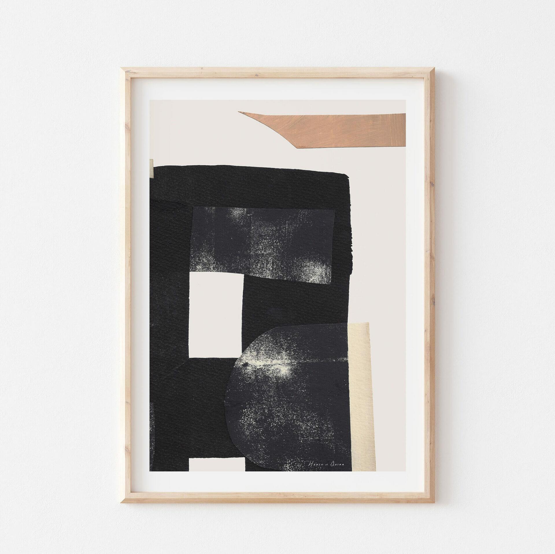 karn-II-print-black-white-beige-abstract-wall-art