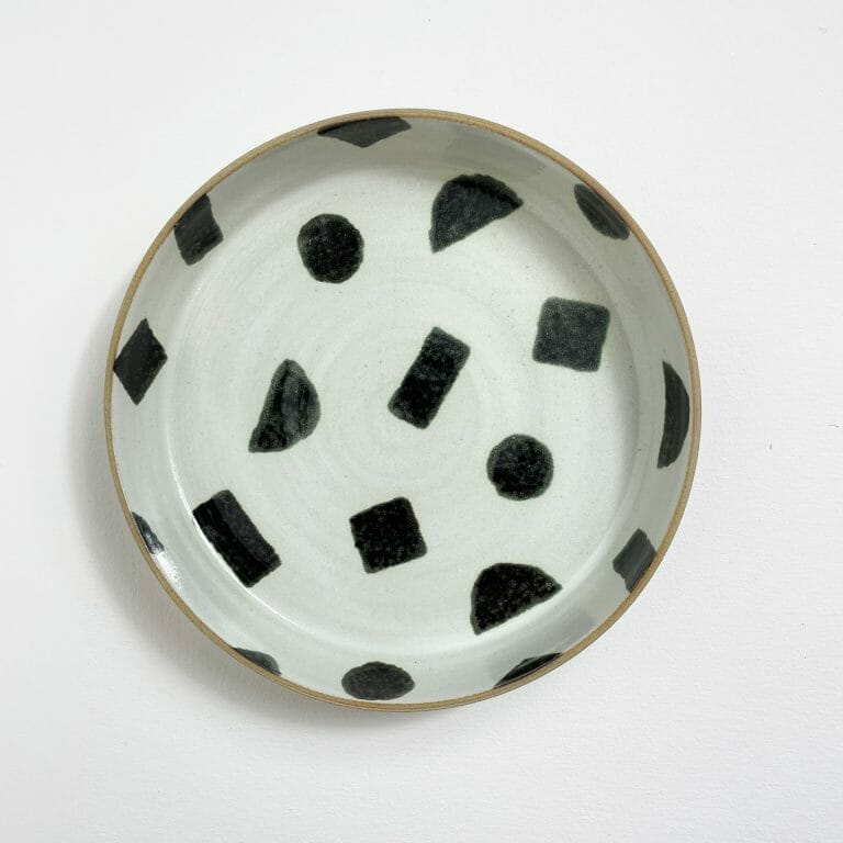 shapes-plate-ceramic-pottery-handmade-design-black-white