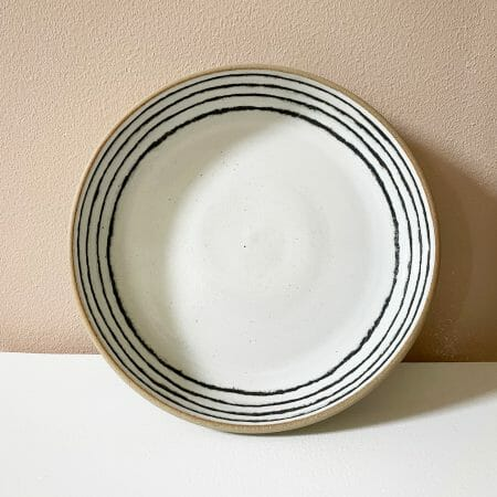 plate-ceramic-graphite-handmade-pottery-black-white