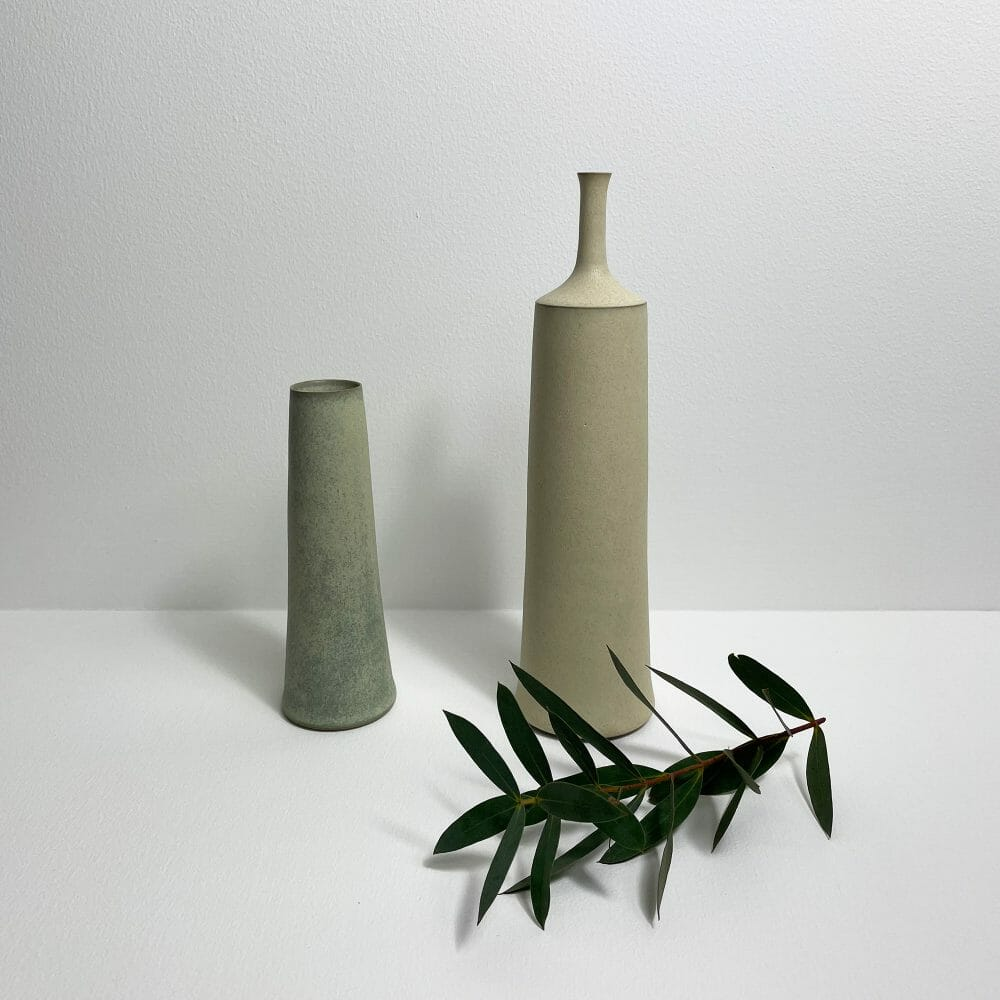 stem-vase-and-bottle-ceramics-handmade-pottery