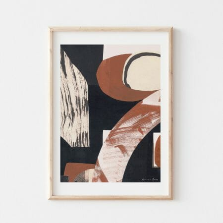 treeve-I-print-wall-art-black-brown-white-abstract