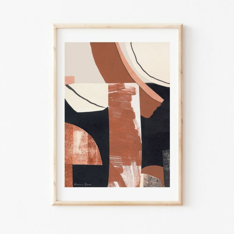 treeve-II-print-wallart-abstract-black-white-brown