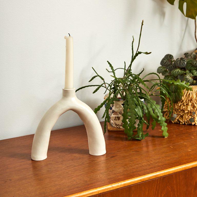 white-leggy-ceramic-handmade-pottery-candleholder