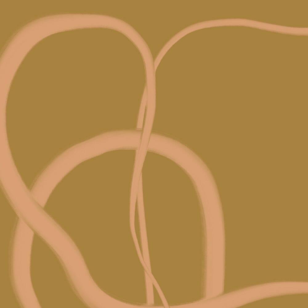 trace-19-art-print-line-drawing-yellow-ochre-pattern