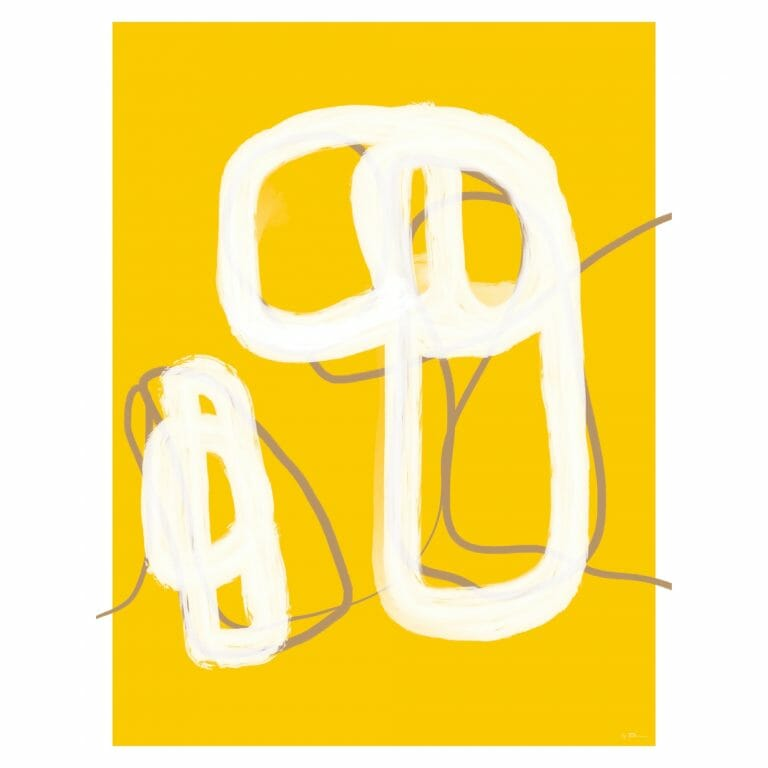 trace-14-art-print-yellow-drawing-lines-patterns-artwork
