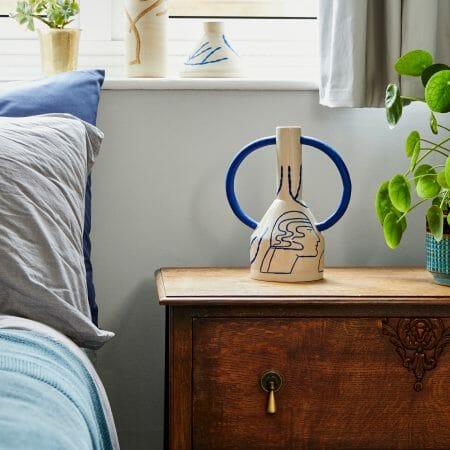 extra-large-jug-eared-vase-in-cream-and-blue-ceramic-handmade-illustration