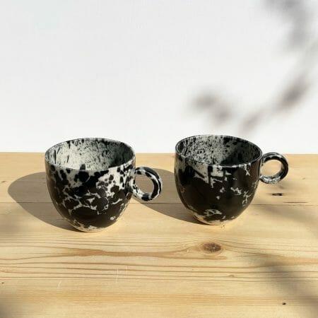 black-splatter-espresso-cup-ceramic-splashes-drips-paint-colour-mug-pottery