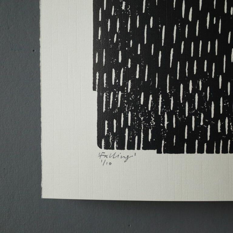 falling-woodcut-print-art-woodcutprint-monochrome