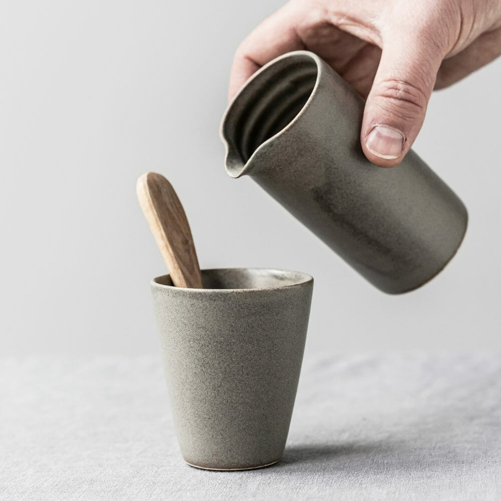 ceramic-pourer- -muted-green-pottery-tableware