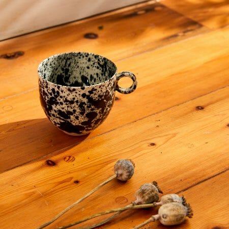 black-splatter-mug-ceramic-drips-cup-inky-drops-pottery